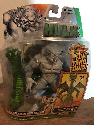 Marvel Legends Wendigo Fin Fang Foom BAF Series Complete SDCC