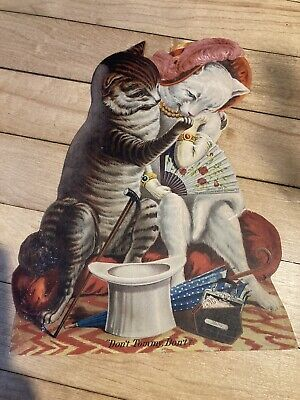 Antique 1800s Atlantic And Pacific Tea Company Large Cat Ad