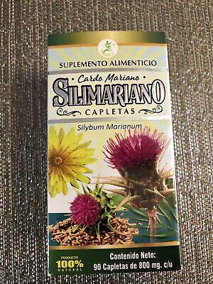 Silimariano Cardo Mariano Para El Hígado Graso Fatty Liver 90 Tab 100% Natural