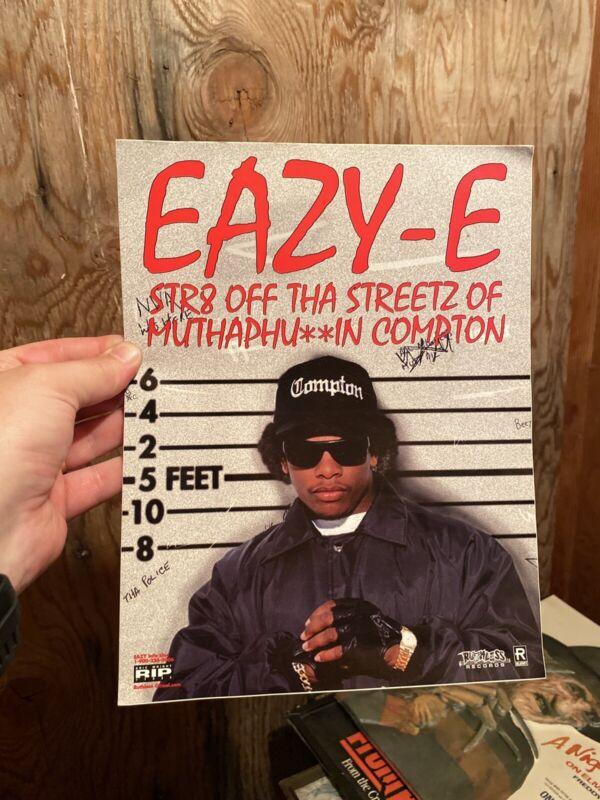 Vintage 1990's Eazy E Promo Sticker Ruthless Records Rap Hip Hop