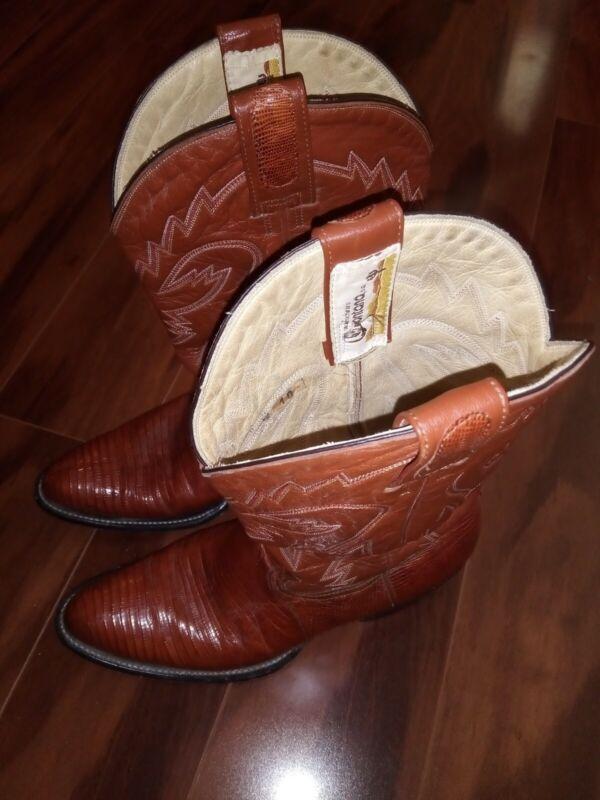 Vintage, MONTANA, Lizard, Skin, Cowboy, Western, 6558, Boots, Exotic, Mens, 10, d, PRISTINE