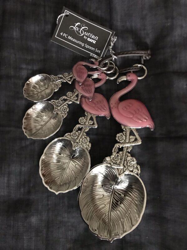 Ganz Pink Flamingo 4 Piece Decorative Measuring Spoon Set ER54247