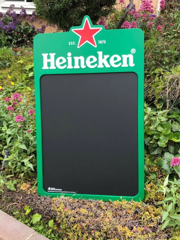Heineken Beer Bar Man Cave Wall Chalkboard Mirror