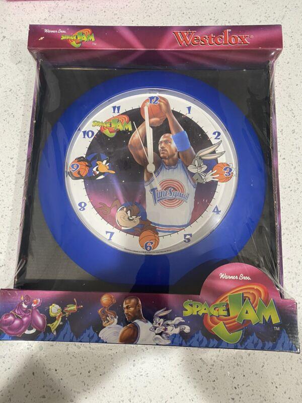 vintage michael jordan space jam clock