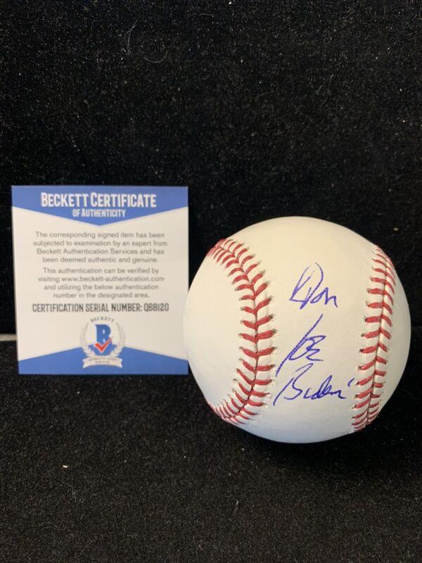 Joe Biden Signed MLB Baseball President Candidate Beckett COA D3