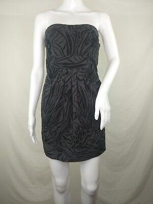 Bongo Tube Dress small mini animal print grey S sleeveless jersey knit short Animal Print Tube Dress
