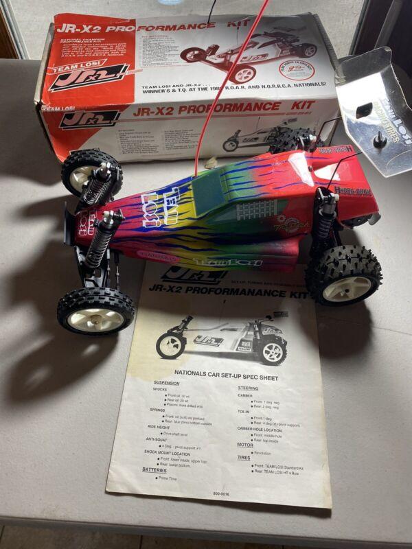 Vintage Team Losi Buggy JRX 2 Pro With Box Novak ESC Airtronics Motor Trans NICE