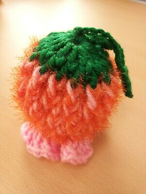 Knitting Pumpkin flower Ornament Handmade hanging decoration 3color available