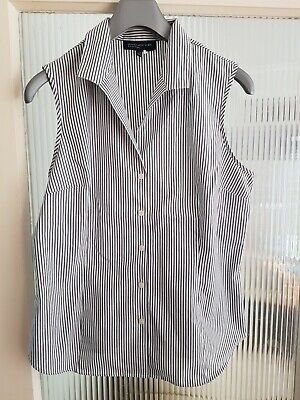 Jones New York Sleeveless Shirt Size Large striped