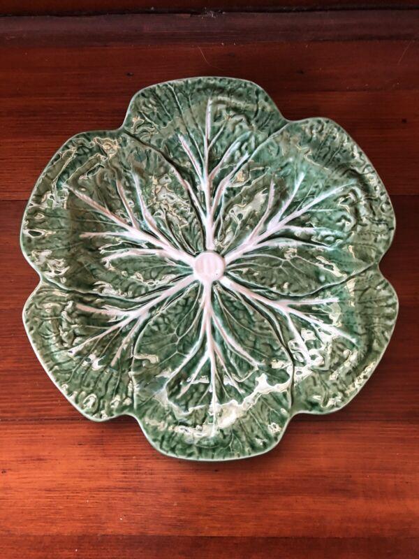 """Bordallo Pinheiro Cabbage Lettuce 10 3/4"""" Dinner Plate"""