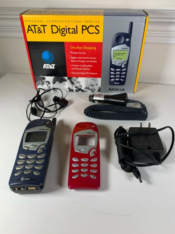 Nokia 5165 Classic GSM AT&T Brick Bar Cell Phone +Extra Case,Chargers,Headset