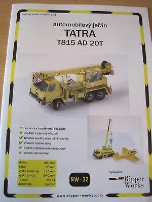 Kranwagen Tatra T815 AD 20T Kartonbausatz *NEU* Bastelbogen
