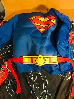 SUPERMAN MAN OF STEEL ADULT X-LARGE USED HALLOWEEN COSTUME EXCELLENT CONDITION