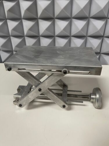 """Heavy-Duty 10"""" x 6"""" Stainless Steel Table-Top Lab Jack"""