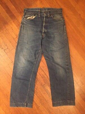 1920 30s Buckle Back Hidden Rivets Big E Levis 501 Xx Donut Button xx Jeans us