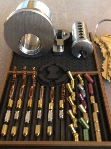 Locksport Challenge Lock & Training Kit W/ ASSA Spools & Serrated Pins Locksmith