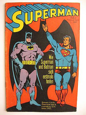 Superman Heft 2, Februar 1967, Ehapa-Verlag, Zustand 2-3