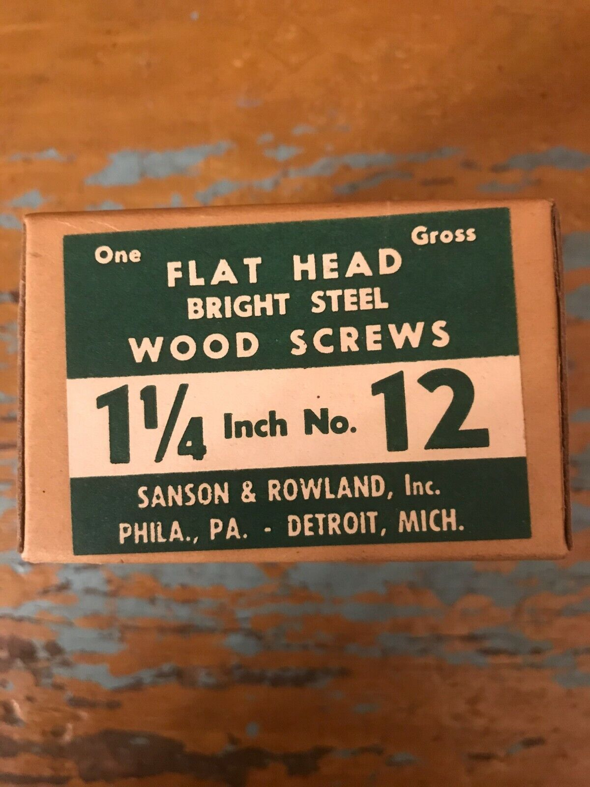 Lot-flat Head Wood Screws 12 1 1/4 Long-1.41 Pounds - $10.00