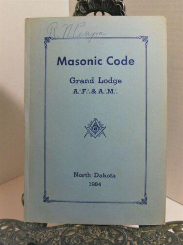Law of Freemasonry MASONIC CODE 1954 North Dakota Grand Lodge Ancient Charges