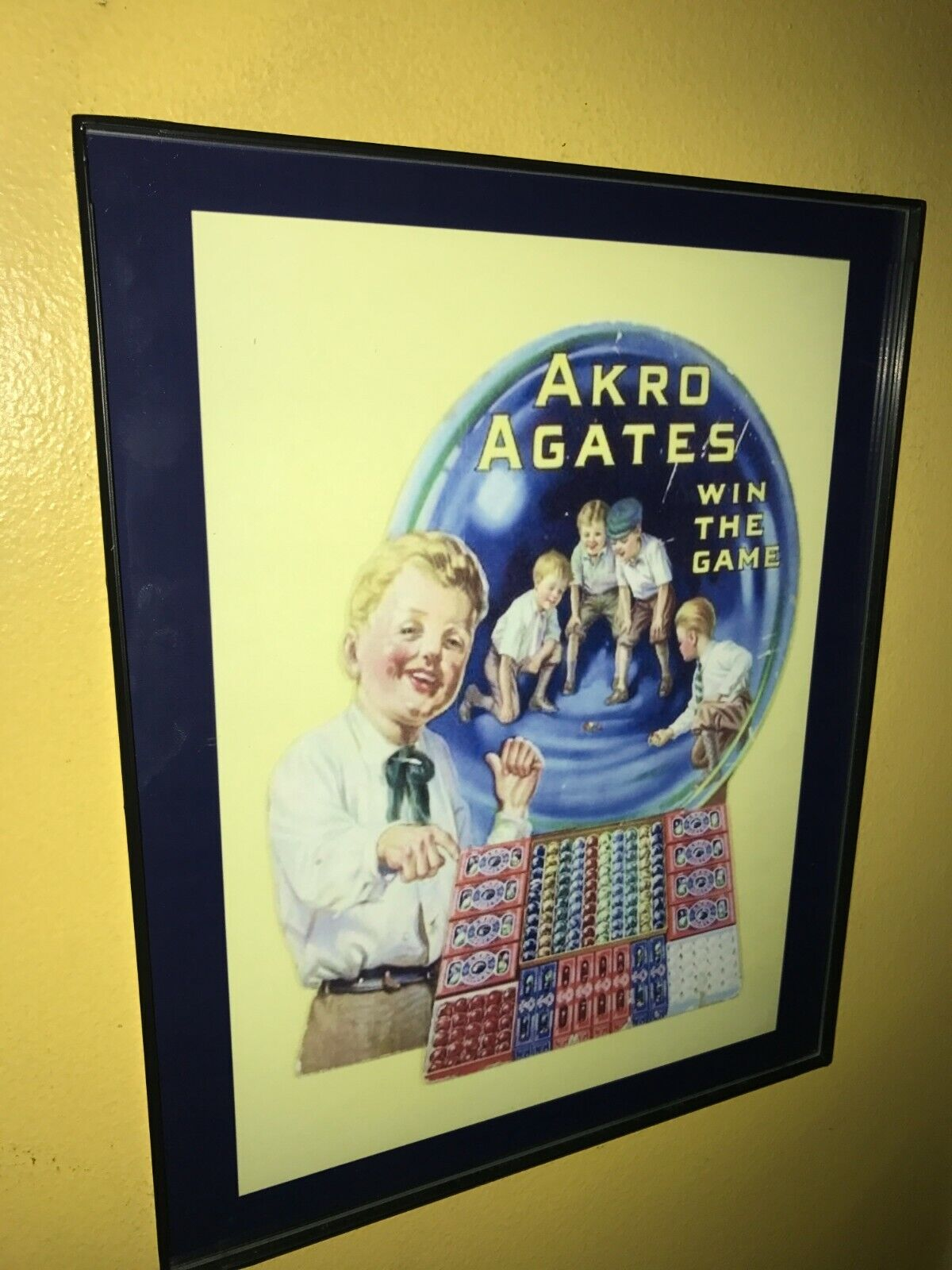 Akro Agates Marbles Toy Store Advertising Sign - $24.99