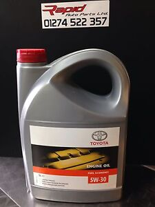 genuine 5 litres toyota 5w30 synthetic blend motor oil ebay. Black Bedroom Furniture Sets. Home Design Ideas