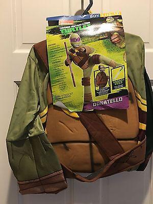 New~Halloween Boy 10-12 Ninja Turtles Donatello Costume~ship free