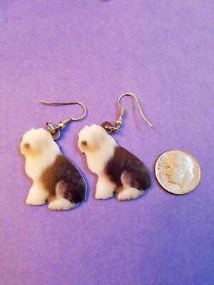 Old English Sheepdog lightweight fun earrings  jewelry FREE SHIPPING! Old English Sheepdog Earrings