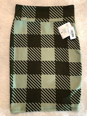 *NEW* LuLaRoe Cassie Pencil Skirt Olive/Fern Green Checkered Print Size S](Green Checkered Skirt)