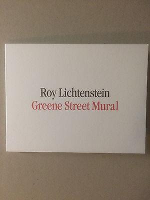 ROY LICHTENSTEIN, Private view invitation card, Gagosian gallery, 2015