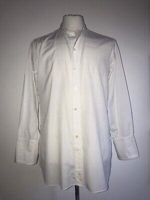 1940s Men's Shirts, Sweaters, Vests AUTHENTIC 1930'S - 1940'S SZ M/L WHITE CLASSIC COLLARLESS LOOSE FIT COTTON SHIRT $62.41 AT vintagedancer.com