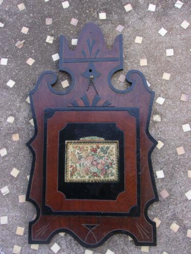 Victorian WALNUT 1880's EASTLAKE Carved ORNATE Wood WALL POCKET Letter Holder