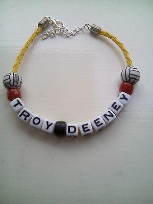 troy deeney watford  coloured football bracelet