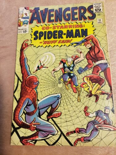 The Avengers #11 Marvel Comics Spider-Man appearance Silver Age See Pictures