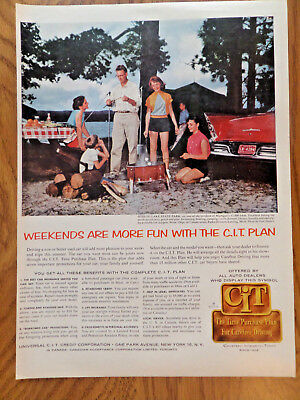 1957 CIT Ad Otsego Lake State Park Michigan 1956 Plymouth Belvedere