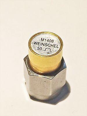 50 Ohm Coaxial Termination Weinschel M1408 Subminiature Sma Dc-18ghz 2w