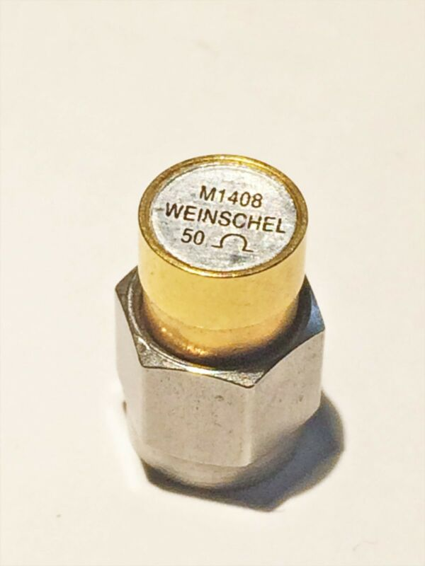 50 Ohm Coaxial Termination, Weinschel M1408 Subminiature, SMA, DC-18GHz, 2W