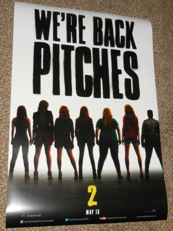 PITCH PERFECT 2 vg 27x39.5 INTERNATIONAL ORIGINAL D/S MOVIE POSTER