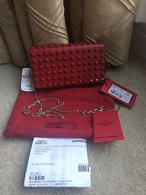 Valentino Rockstud Small Red Flap Top Crossbody Bag NWT Retail $1545