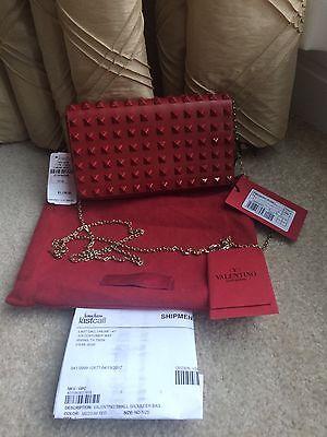 Valentino Rockstud Small Red Flap Top Crossbody Bag NWT Retail $1545