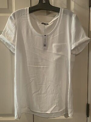 white blouse Top Theory Size Large NWT
