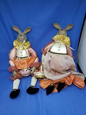 Kasma Kollektion He & Sie Bunny Rabbit Puppen Alle Gekleidet auf für Easter Tag