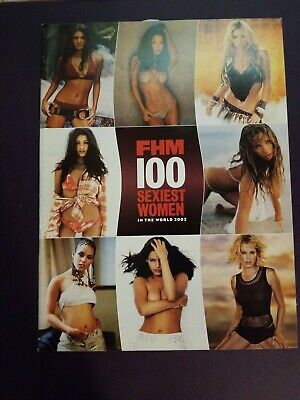 FHM 100 Sexiest Women In The World 2002 Magazine Klum JLo Pam Anderson Burke New