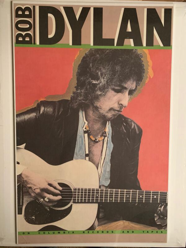 "Original 1980 Bob Dylan Poster 28.25"" x 44"" Columbia Records & Tapes 36553 Saved"