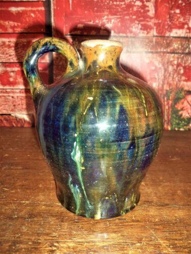 Antique Primitive Redware Red Ware Jug Jar Bottle Shenandoah area Pottery 19th C