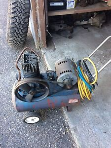 Air compressor and floor jack for sale