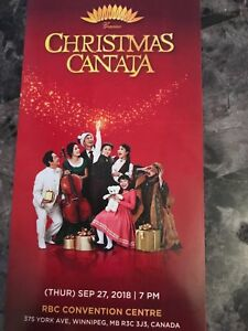CHRISTMAS CANTATA IN WINNIPEG-SELLING TWO TICKETS