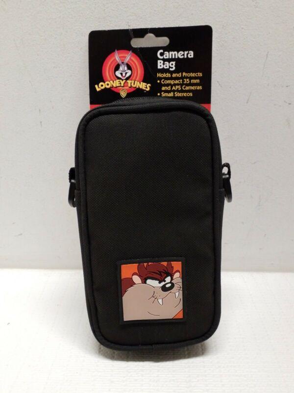 1998 RARE Vintage Looney Toons Taz Camera Bag Small Stereos Etc.