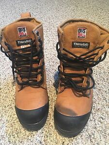 Men's size 8 big bills steel toe boots