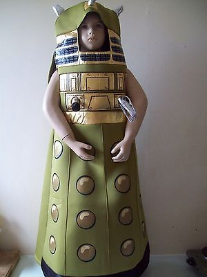 CHILDS Doctor Who  Fancy Dress  Dalek  Childrens Costume   7/8 YRS ()