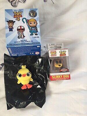 Funko Toy Story 4 Ducky Mystery Mini & Slinky Dog Pocket Pop Keychain